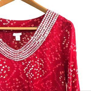 Calypso Red Sequin Top